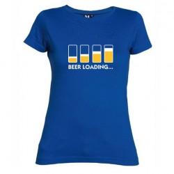 Dámské tričko Beer loading modré