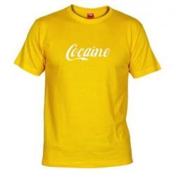 Pánské tričko Cocaine žluté