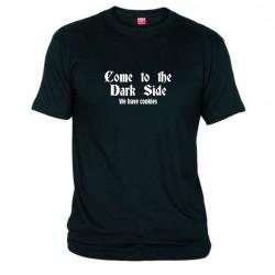 Pánské tričko Come to the dark side černé