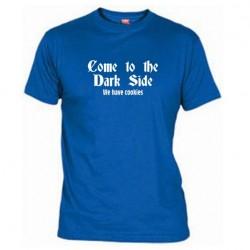 Pánské tričko Come to the dark side modré
