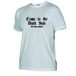 Pánské tričko Come to the dark side bílé
