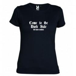 Dámské tričko Come to the dark side černé