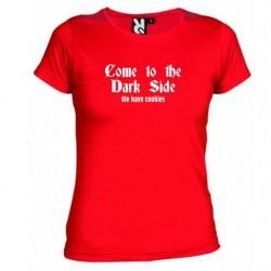 Dámské tričko Come to the dark side červené