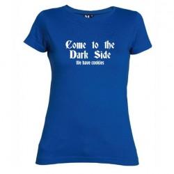 Dámské tričko Come to the dark side modré