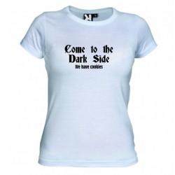 Dámské tričko Come to the dark side bílé
