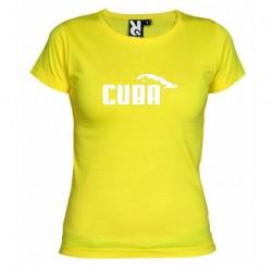 Dámské tričko Cuba žluté