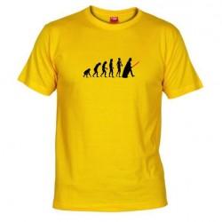 Pánské tričko Darth vader evolution žluté
