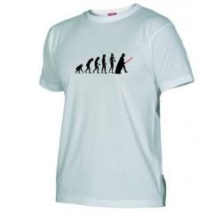 Pánské tričko Darth vader evolution bílé