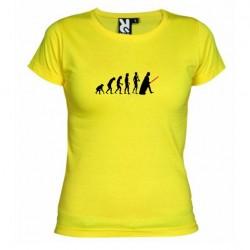 Dámské tričko Darth vader evolution žluté