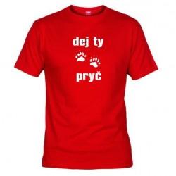Pánské tričko Dej ty pracky pryč červené