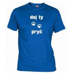 Pánské tričko Dej ty pracky pryč modré