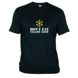 Pánské tričko Don´t eat yellow snow černé