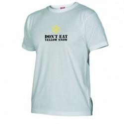 Pánské tričko Don´t eat yellow snow bílé