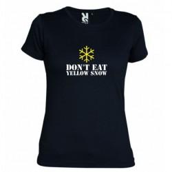 D8mské tričko Don´t eat yellow snow černé