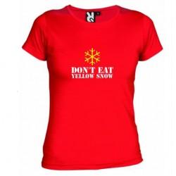 D8mské tričko Don´t eat yellow snow červené