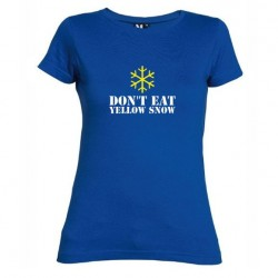 D8mské tričko Don´t eat yellow snow modré