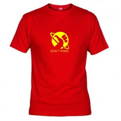 Pánské tričko Don´t panic červené