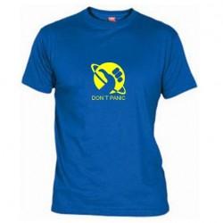 Pánské tričko Don´t panic modré