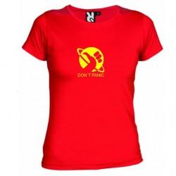 Dámské tričko Don´t panic červené