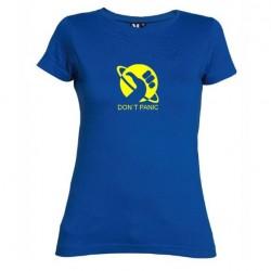 Dámské tričko Don´t panic modré