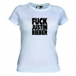 Dámské tričko Fuck Justin Bieber bílé