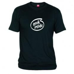 Pánské tričko Geek inside černé