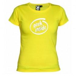 Dámské tričko Geek inside žluté