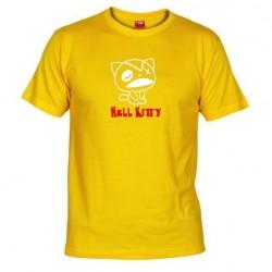 Pánské tričko Hell Kitty žluté