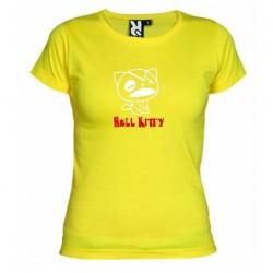 Dámské tričko Hell Kitty žluté