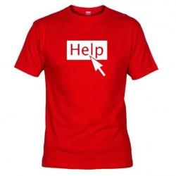 Pánské tričko Help červené