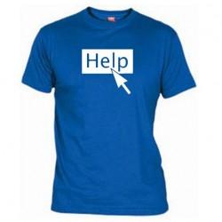 Pánské tričko Help modré