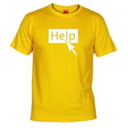 Pánské tričko Help žluté