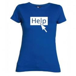 Dámské tričko Help modré