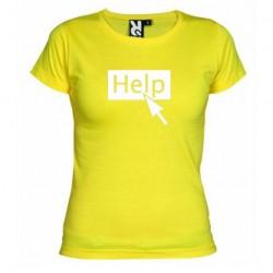 Dámské tričko Help žluté