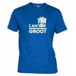 Pánské tričko I am groot modré