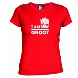 Dámské tričko I am groot červené