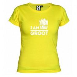 Dámské tričko I am groot žluté