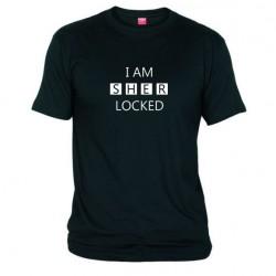 Pánské tričko I am sherlocked černé