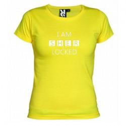 Dámské tričko I am sherlocked žluté