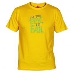 Pánské tričko I am to epic to fail žluté