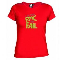 Dámské tričko I am to epic to fail červené