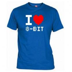 Pánské tričko I love 8-BIT modré