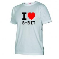 Pánské tričko I love 8-BIT bílé