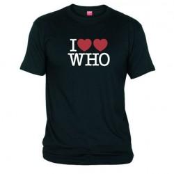 Pánské tričko I love doctor who tardis černé