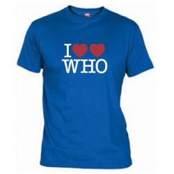 Pánské tričko I love doctor who tardis modré