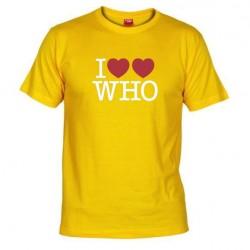 Pánské tričko I love doctor who tardis žluté