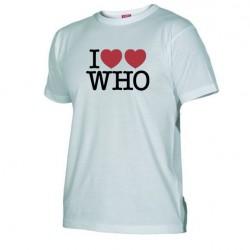 Pánské tričko I love doctor who tardis bílé
