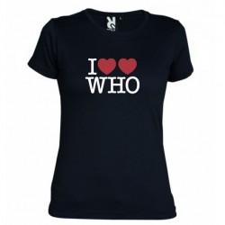 Dámské tričko I love Doctor Who tardis černé