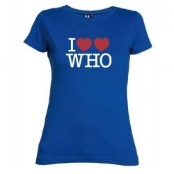 Dámské tričko I love Doctor Who tardis modré