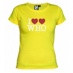 Dámské tričko I love Doctor Who tardis žluté